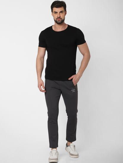 Dark Grey Side Zip Trackpants