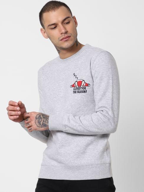 Light Grey Graphic Print Sweatshirt