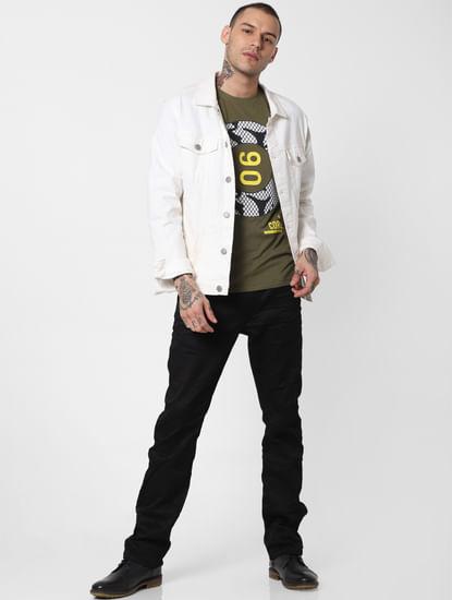 Black Low Rise Clark Regular Fit Jeans