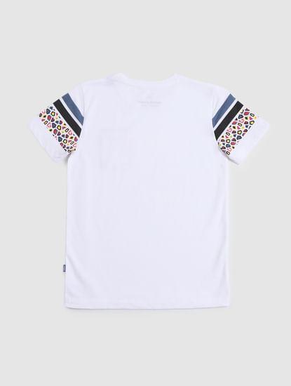 Junior White Crew Neck T-shirt