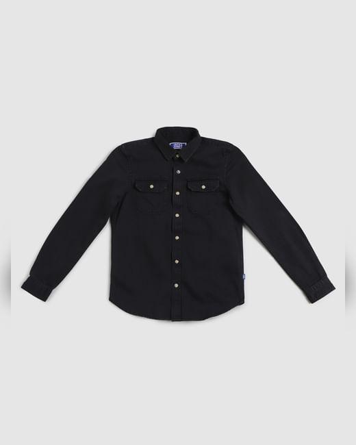 Junior Black Full Sleeves Shirt