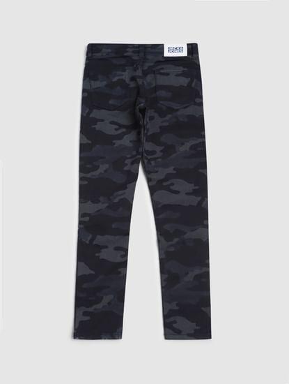 Boys Blue Low Rise Camo Print Liam Skinny Jeans