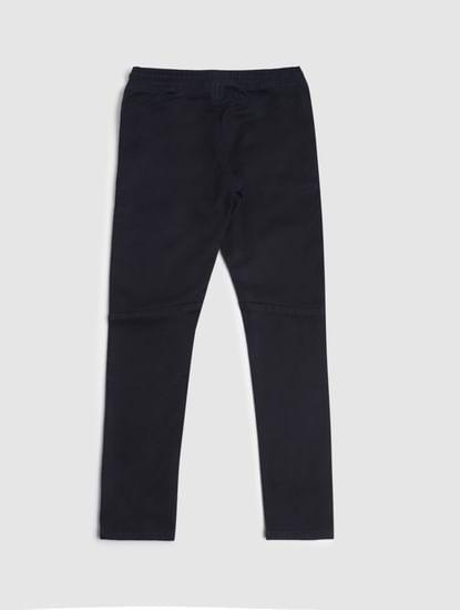 Boys Dark Blue Low Rise Tape Detail Tim Slim Jeans