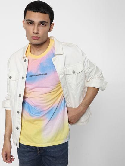 Multi-coloured Tie Dye Crew Neck T-shirt