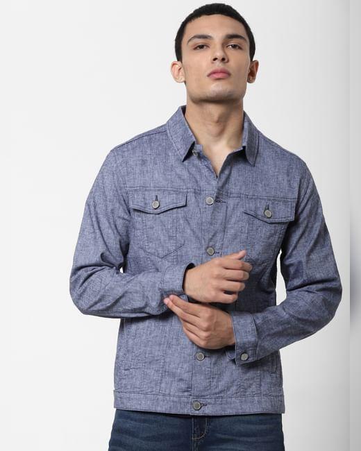 Blue Linen Jacket