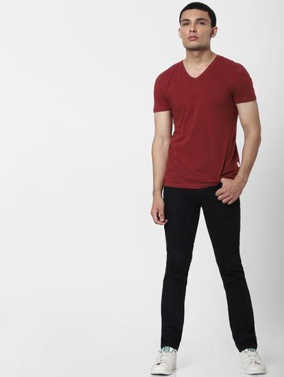 Black Mid Rise Ben Skinny Fit Jeans