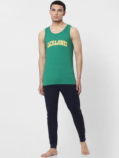 Green Logo Print Vest
