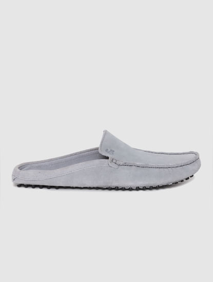 Grey Slip On Loafers