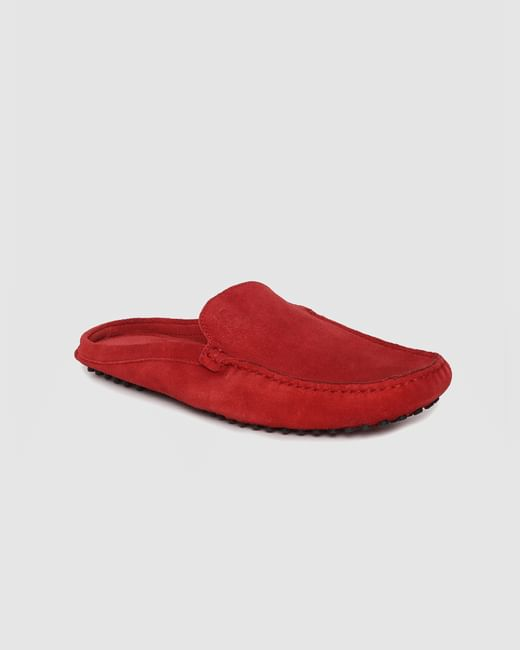 Red Slip On Loafers