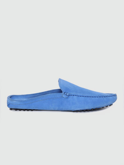 Blue Slip On Loafers