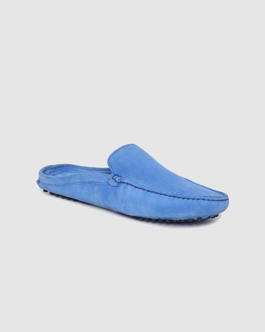 Blue Slip On Loafers