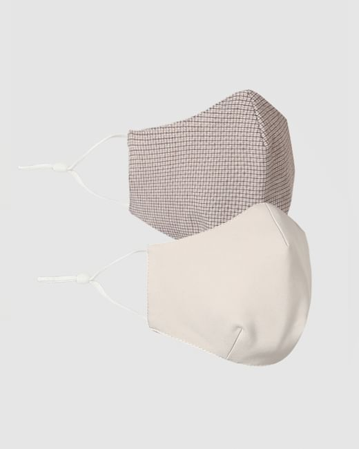 Pack of 2 Beige 3PLY Anti-Bacterial Mask