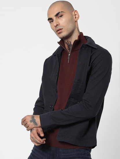 Maroon Turtleneck Pullover