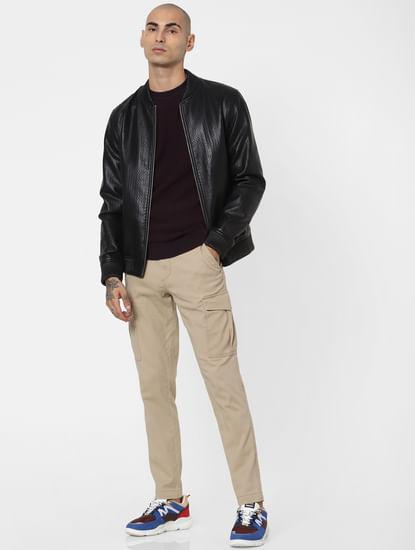 Burgundy Textured Pullover