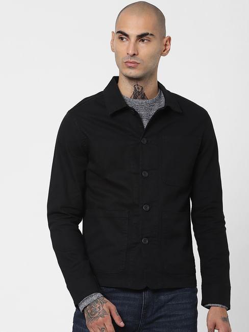 Black Twill Weave Jacket
