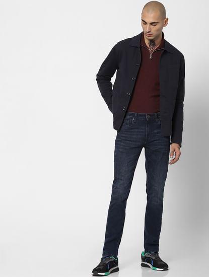Dark Grey Twill Weave Jacket