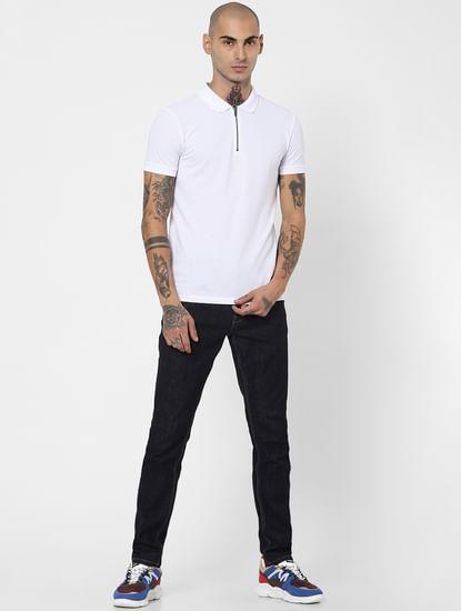 White Polo Neck T-shirt