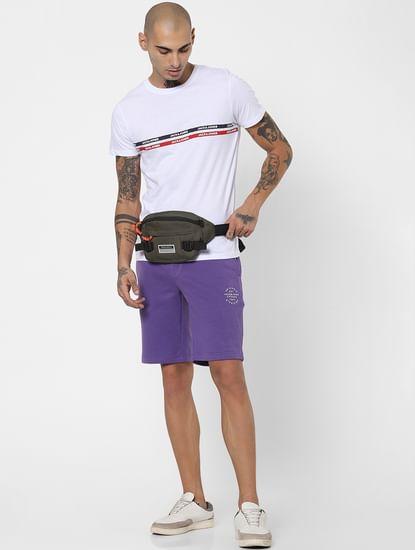 Purple Low Rise Sweatshorts