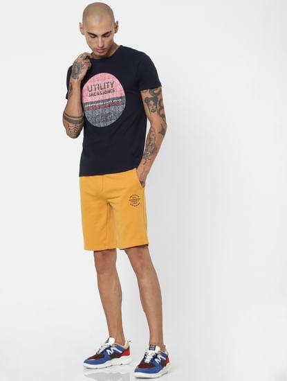 Yellow Low Rise Sweatshorts