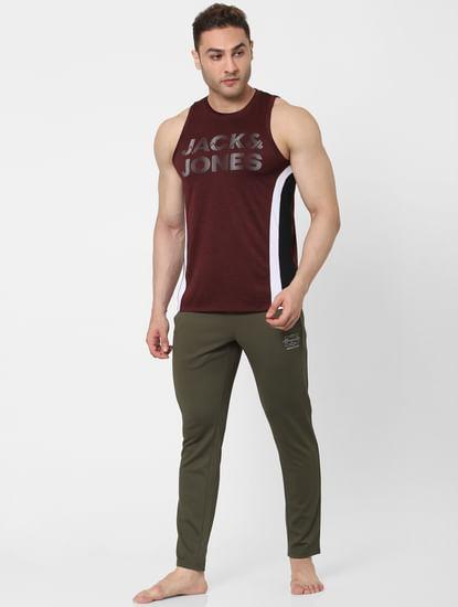 Maroon Logo Print Vest
