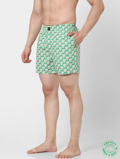 Green Dice Print Boxers