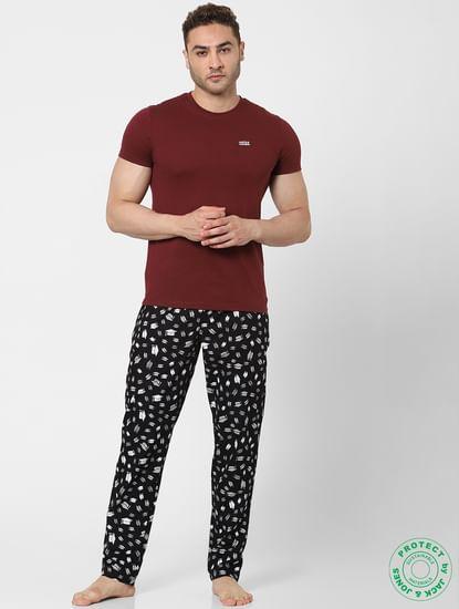 Black Graduation Hat Print Pyjamas