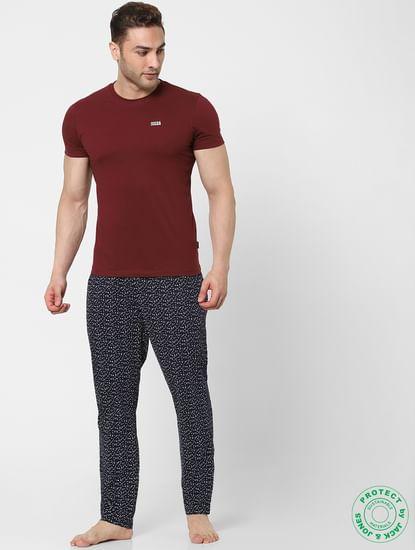 White Mid Rise Dotted Pyjamas