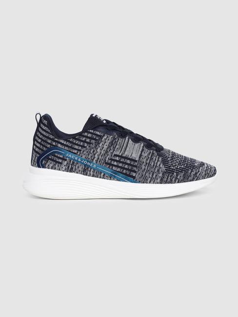 Blue Self-Design Sneakers