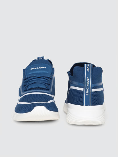 Blue Lace-Up Sneakers