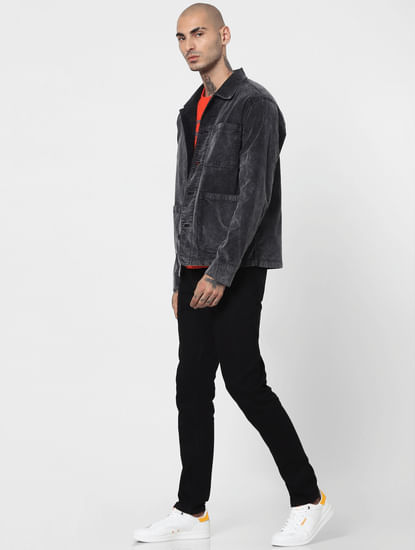 Black Low Rise Glenn Slim Jeans