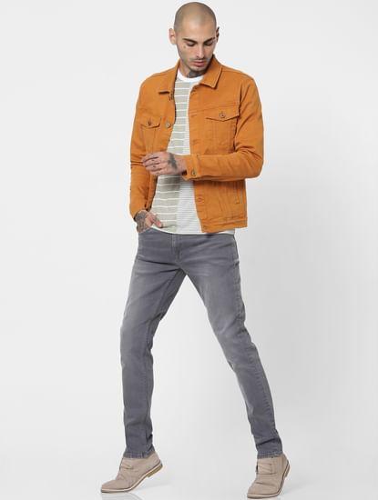 Grey Low Rise Ben Skinny Jeans