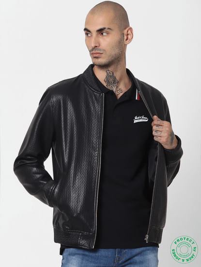 Black Contrast Tipping Polo T-shirt