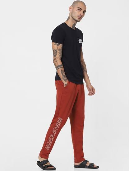 Brick Red Mid Rise Sweatpants