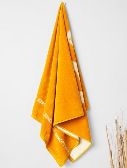 Brown Logo Print Towel
