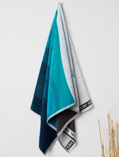 Turquoise Wave Print Towel