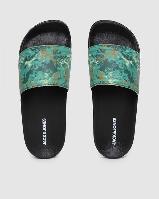 Green Printed Pool Sliders