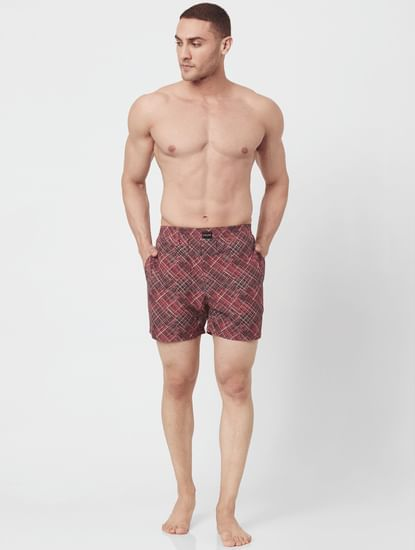 Purple All Over Print Electric Boxers
