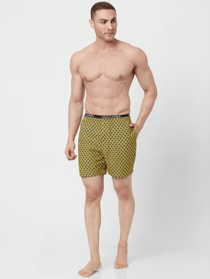 Yellow Nuckles Printed Boxer