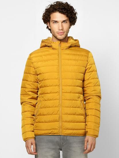 Brown Hooded Puffer Jacket