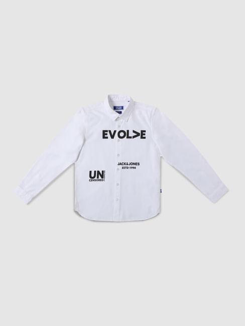 Junior Green Check Full Sleeves Shirt