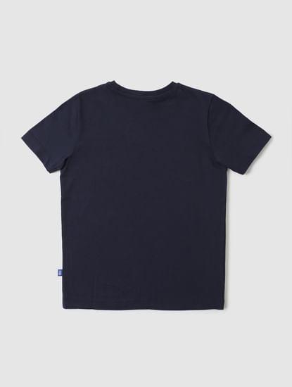 Boys Blue Pencil Graphic Print Crew Neck T-shirt