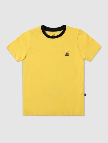Boys Yellow Crew Neck T-shirt
