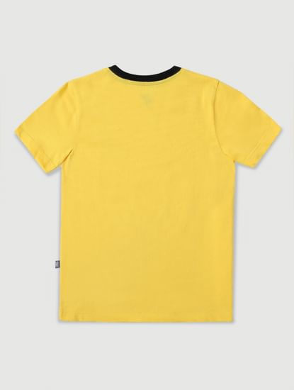 Junior Yellow Crew Neck T-shirt