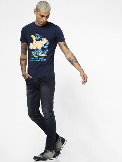 Dark Blue Low Rise Dyed Ben Skinny Jeans