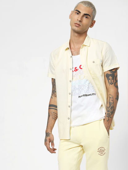 White 'PRIDE' Logo Print Vest