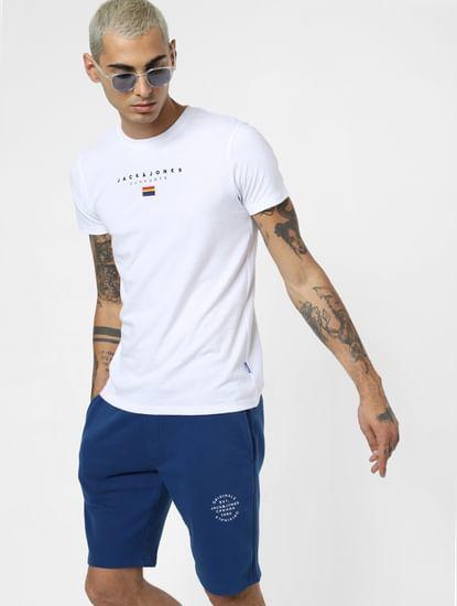 White Pride Embroidered Logo Print T-shirt