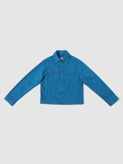 Boys Blue Button Down Jacket