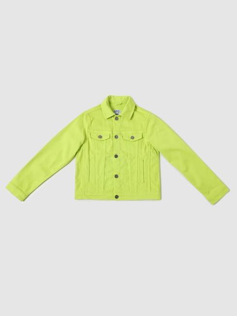Boys Green Button Down Jacket
