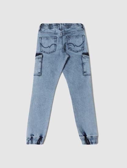Boys Blue Mid Rise Paul Regular Fit Jeans