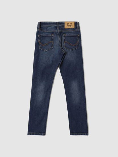 Junior Blue Low Rise Glenn Slim Fit Jeans